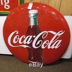 12 Ft 4 Piece Coca Cola Banner Porcelain Button Sign