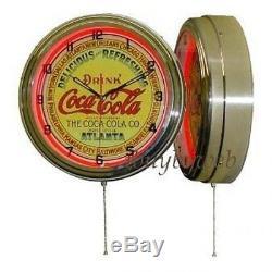 15 Classic Coke Coca Cola Atlanta Red Neon Clock Sign