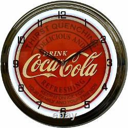 16 Drink Coca-Cola For Family & Friends Sign White Neon Clock Kitchen Decor