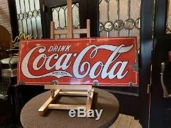 1920's Coca Cola Porcelain 30 Advertising Sign Watch Video