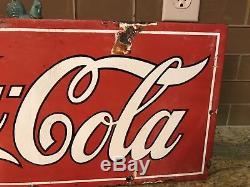 1920's Coca Cola Porcelain Sign. Coke, Coca Cola, Soda, Pepsi, 7up