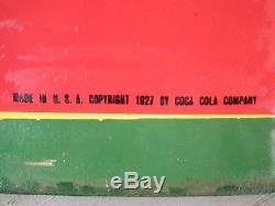 1927 Coca-Cola 5 color porcelain sign by Ingram-Richardson Beaver Falls, PA
