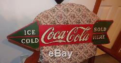 1927 Coca-Cola Arrow Sign Paned Version