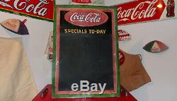 1930 Coca-Cola Menu Chalkboard Sign