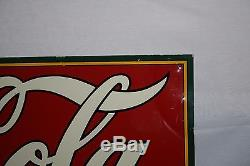 1930'S DRINK COCA COLA With BOTTLE TIN TACKER METAL SIGN SODA POP