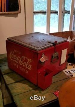 1930s Coca Cola Industrial Carton Cooler Chest / W Bottle Opener SUPER RARE