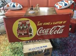 1930s Coca-Cola SST Paper Bag Holder 40 x 16 Coke Vintage Tin