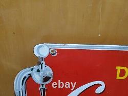 1930s Original Coca-Cola Fountain Service Porcelain Advertising Sign