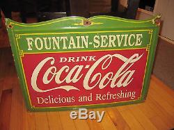 1930s Porcelain Coca Cola Sign