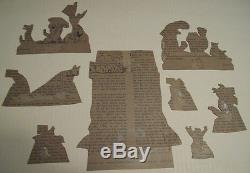 1931 COCA COLA CARDBOARD CUTOUTS, UNCLE REMUS & THE HAPPY ANIMALS With SIGNS