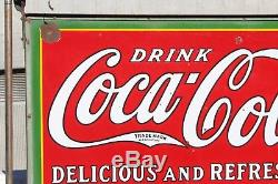 1932 Original Coca Cola DSP Bus Station Advertising Hanging Sign with bracket