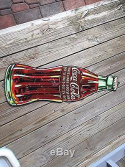1933 Die Cut Coca Cola Bottle Sign- RARE