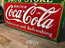 1935 Coca Cola Sign HUGE Big LArge
