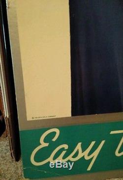 1937 Coca-Cola Cardboard Sign