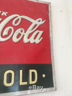 1937 Original Vintage Coca Cola Sign