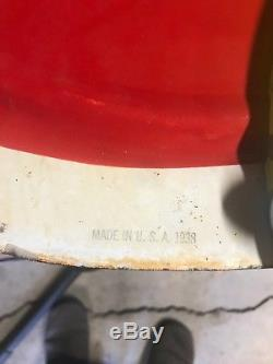 1938 Coca Cola DSP Hanging Sign withboth yellow porcelain buttons
