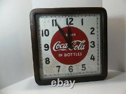 1939 Coca-Cola Wooden Selected Devices Co. Clock sign Selectoclock