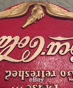 1940S Rubber World War Two Era Coca-Cola Coke Sign ULTRA RARE
