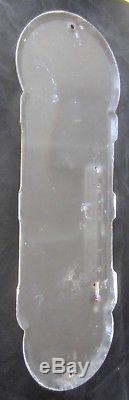 1940 Coca Cola Thermometer Silhouette Girl Porcelain Enamel Original Exc Rare