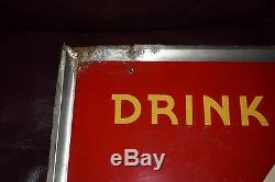 1940's Coca Cola Yellow Dot Metal Sign by Evans-Glenn Co. Marietta, GA