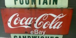 1940's Vintage Porcelain Coca Cola Sign original