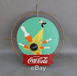 1940s COCA COLA KAY DISPLAY Bowling Diecut Wood Sign