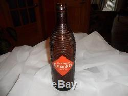 1940s VERY RARE ORANGE CRUSH 30 OZ BOTTLE AMBER BROWN, not Coca cola sign