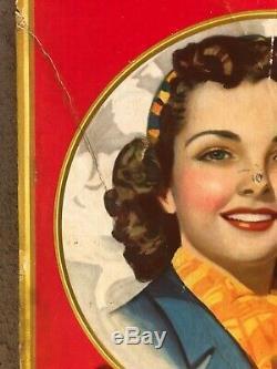 1941 Coca Cola CARDBOARD SIGN SO REFRESHING DRINK Coca Cola