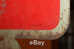 1941 ORIG Antique VTG 1940s Metal Coca Cola Soda Flange Sign Non Porcelain OLD