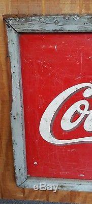 1941 Original vintage Drink Coca Cola coke sign 5' x 2