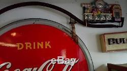 1941 RARE Coca Cola porcelain 2 sided sign, its non-neon, fountain service