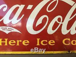 1941 VINTAGE PORCELAIN COCA COLA Coke SIGN