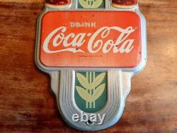 1941 Vintage Double Bottle Coca-Cola Wall Thermometer Deco Double Bottle