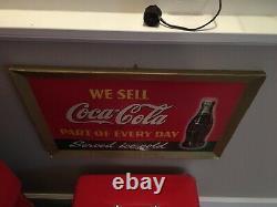1942 Coca Cola Cardboard Sign 14 X 22 Easel Back Great Color