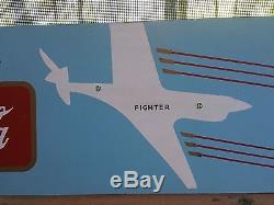 1943 WW-2 Era Coca-Cola Coke Kay Display Masonite Fighter Plane Sign