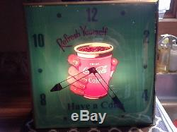1943 coca cola PAM lighted sign clock