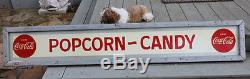 1947 Coca Cola POPCORN CANDY Evans-Glenn Wood Framed Sign with Buttons DRIVE-IN