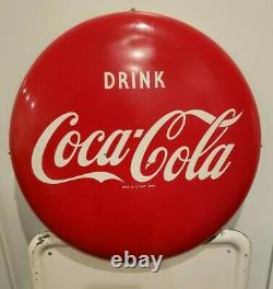 1947 Coca-Cola Sign 2 signs - rare 6 Pack with Button -'47 Serve Coke at Home