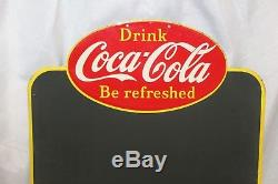 1948-50s Coca-Cola Menu Board Made in Canada Tin Chalk Board Sign