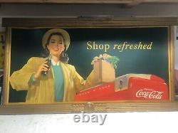 1948 Coca Cola Cardboard with original Coca Cola frame