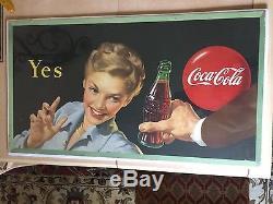 1948 Coca-Cola Small Cardboard Poster