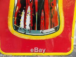 1948 French Coca Cola Buvez Bottle Tin Sign St Thomas Ont Canada Coke 1.5'x4.5
