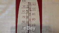 1949 COCA COLA THERMOMETER SIGN CIGAR TYPE WORKS and ORIGINAL
