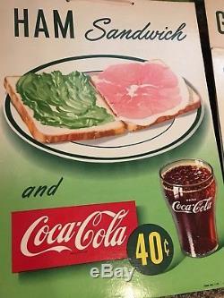 1949 Coca Cola Orig Card Stock Advertisement Ham Sandwich Sandwich