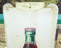 1950 Coca-cola Pilaster Bottle Sign 40-1/2