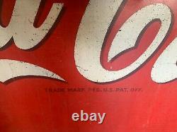1950's 10' Coca-Cola COKE Masonite Building Advertising Sign Watch Video