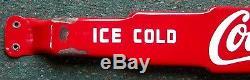 1950's COCA-COLA PORCELAIN DOOR PUSH BAR. In Bottles. L@@K