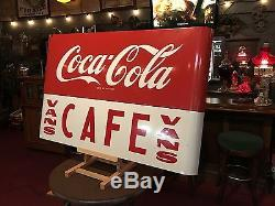 1950's Coca Cola COKE Porcelain 43 Vintage Cafe Sign Watch Video