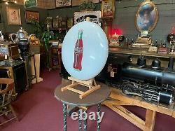 1950's Coca-Cola COKE White 24 Porcelain Button Sign Watch Video
