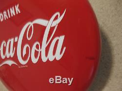 1950's ORIGINAL DRINK COCA COLA 24 Porcelain Button Sign - Very Nice